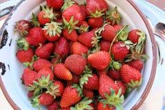 Fresas dulces Fotos de archivo libres de regalías