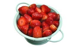Fresas en colador Fotos de archivo