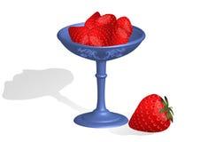 Fresas en el cuenco ilustración del vector
