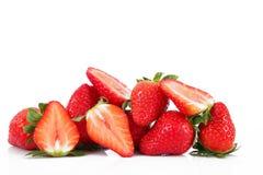 Fresas en el fondo blanco Foto de archivo