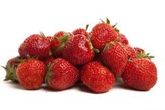 Fresas en el fondo blanco Fotos de archivo
