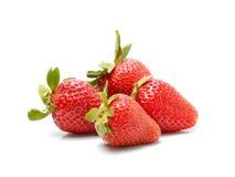 Fresas en el fondo blanco Imagen de archivo