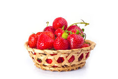Fresas en el fondo blanco Fotografía de archivo libre de regalías