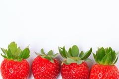 Fresas en el fondo blanco Fotografía de archivo