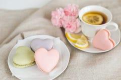 Fresas en forma de corazón Foto de archivo libre de regalías