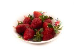 Fresas en un fondo blanco imágenes de archivo libres de regalías