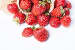 Fresas en un fondo blanco Imagen de archivo