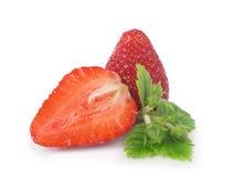 Fresas en un fondo blanco Imagen de archivo libre de regalías