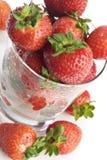 Fresas en un vidrio Imagen de archivo libre de regalías