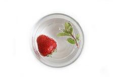 Fresas en un vidrio Fotografía de archivo