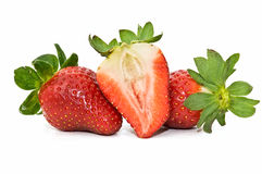 Fresas frescas Foto de archivo libre de regalías