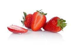 Fresas frescas y sabrosas foto de archivo
