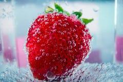 Fresas grandes en burbujas Fotos de archivo libres de regalías