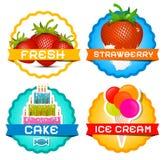 Fresas - helado Imagen de archivo libre de regalías