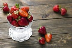 Fresas maduras Foto de archivo libre de regalías