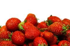 Fresas maduras como fondo Imágenes de archivo libres de regalías