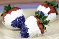 fresas patrióticas Foto de archivo libre de regalías