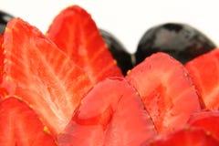 Fresas rebanadas Imágenes de archivo libres de regalías