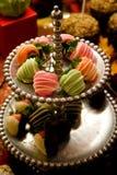 Fresas revestidas deliciosas Imagen de archivo libre de regalías