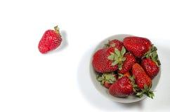 Fresas rojas frescas Foto de archivo libre de regalías