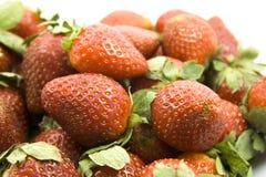 Fresas rojas frescas Imagen de archivo libre de regalías