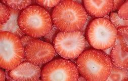 Fresas tajadas Fotografía de archivo libre de regalías