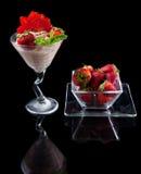 Fresas y chocolate Fotos de archivo
