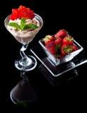 Fresas y chocolate Foto de archivo