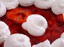 Fresas y crema Imagen de archivo libre de regalías