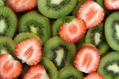 Fresas y kiwi Fotografía de archivo libre de regalías