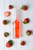 Fresas y soda Fotografía de archivo libre de regalías