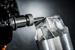 Fresatrice metallurgica di CNC immagini stock