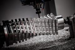 Fresatrice metallurgica di CNC Immagine Stock Libera da Diritti