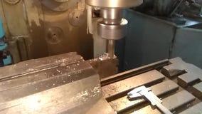Fresatura della preparazione d'acciaio archivi video