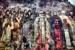 Fresco. HDR.Fresco in bad condition. 400 years outdoor. Kiev-Pechersk Lavra monastery in Kiev. Ukraine (Malorussia Royalty Free Stock Photo
