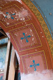 colorful old antique fresco detail Stock Photography
