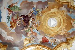 Fresco. Ceiling at St. Peter's Church in Munich, Germany Stock Photography