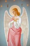 Fresco. Saint Michael's Golden-Domed Cathedral in Kiev, Ukraine Royalty Free Stock Image