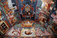 Fresco. In orthodox christian church Royalty Free Stock Photography