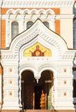 Fresco Above Entrance In Alexander Nevsky Royalty Free Stock Image