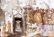 Fresco at the ancient Roman city of Pompeii Stock Images