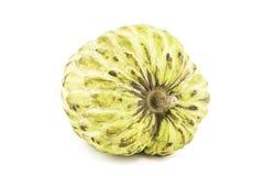Fresco anona o Sugar Apple Fruit Annona maduro, sweetsop en el fondo blanco encendido con la trayectoria de recortes/la bien-rama Foto de archivo libre de regalías