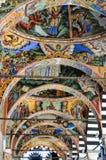 Fresco. In archs Rila Monastery,Bulgaria royalty free stock images