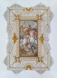 Fresco asombroso del techo, palacio de Barberini en Roma, Italia Foto de archivo