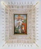 Fresco asombroso del techo, palacio de Barberini en Roma, Italia Fotos de archivo