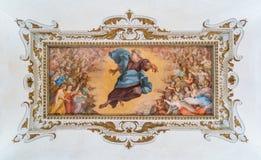 Fresco asombroso del techo, palacio de Barberini en Roma, Italia Imagen de archivo libre de regalías