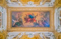 Fresco asombroso del techo, palacio de Barberini en Roma, Italia Fotografía de archivo libre de regalías
