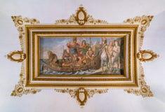 Fresco asombroso del techo, palacio de Barberini en Roma, Italia Imagenes de archivo