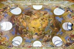Fresco in the Austrian National Libary in Vienna Stock Photos