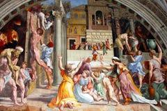 Fresco av Raphael i Vatican royaltyfria foton